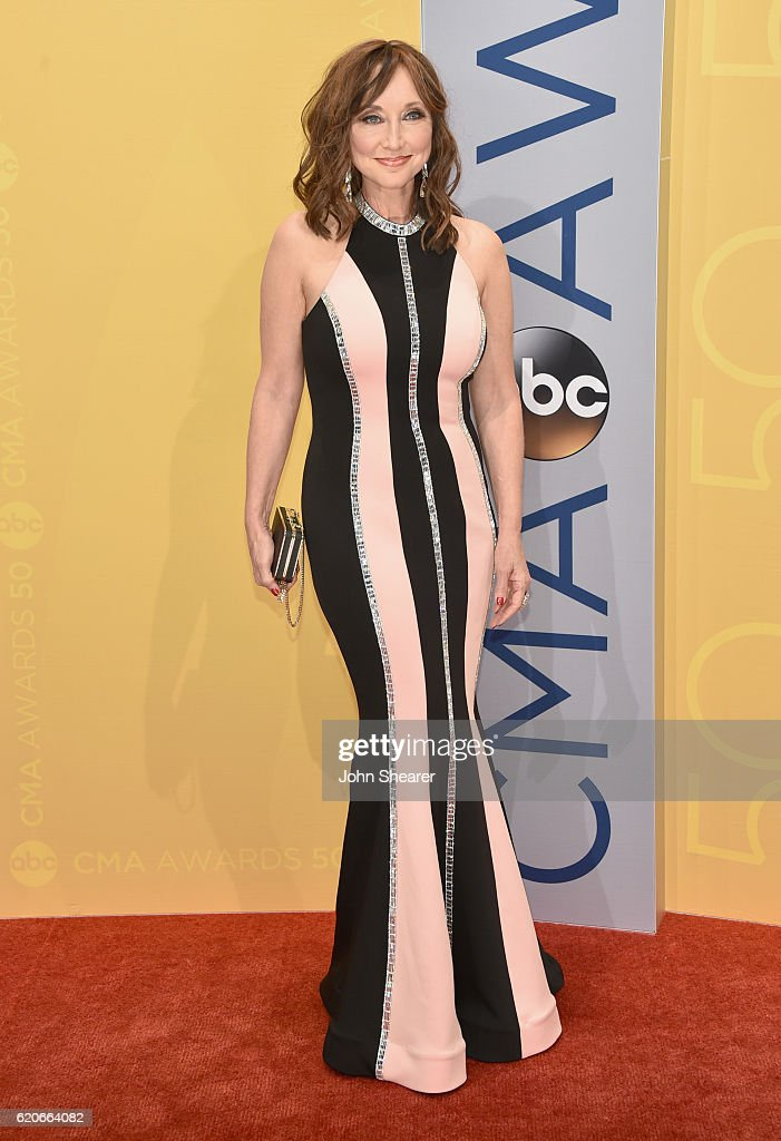 Singer Pam Tillis attends the 50th annual CMA Awards at the Bridgestone Arena on November 2, 2016 in Nashville, Tennessee.