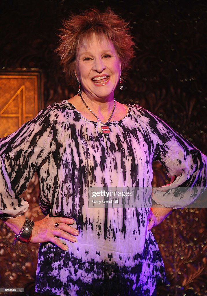 Singer Pamela Myers attends a press preview at 54 Below on January 15, 2013 in New York City.