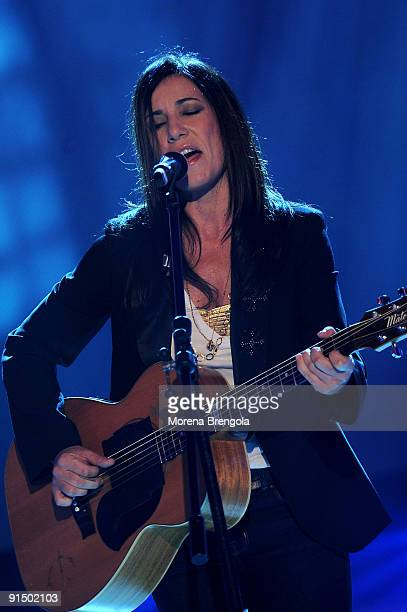 Singer Paola Turci during Scalo 76 Talent Italian Music TV Show on October 6 2009 in Milan Italy