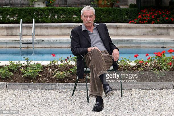 Singer Paolo Conte attends a photocall for the launch of his new album 'Nelson' held at Villa Necchi on October 11 2010 in Milan Italy
