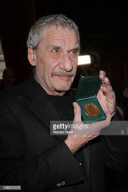 Singer Paolo Conte receives the Vermeil Medal of the city of Paris at Mairie de Paris on January 25 2011 in Paris France