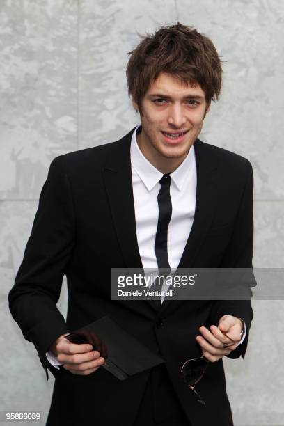 Singer Paolo Nutini attends the Giorgio Armani Milan Menswear Autumn/Winter 2010 show on January 19 2010 in Milan Italy