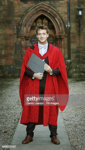 Singer Paolo Nutini receives an honorary doctorate from the University of the West of Scotland at the Thomas Coats Memorial Baptist Church in his...