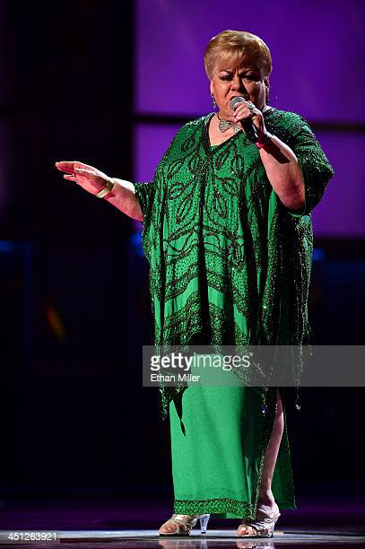 Singer Paquita la del Barrio performs onstage during the 14th Annual Latin GRAMMY Awards held at the Mandalay Bay Events Center on November 21 2013...