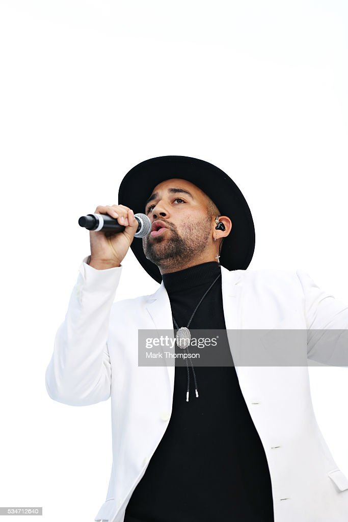 Singer Parson James entertains the crowd at the Amber Lounge fashion show during previews to the Monaco Formula One Grand Prix at Circuit de Monaco on May 27, 2016 in Monte-Carlo, Monaco.