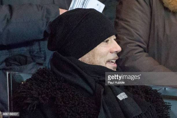 Singer Pascal Obispo attends the Paris Saint Germain FC vs Girondins de Bordeaux at Parc des Princes on January 31 2014 in Paris France