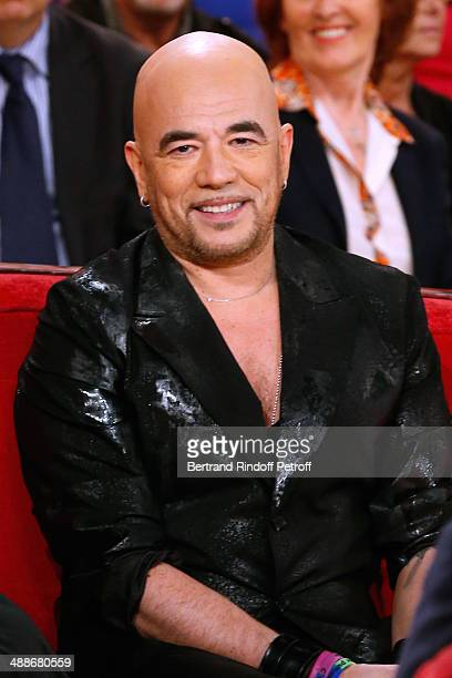 Singer Pascal Obispo presents his new album 'Le grand Amour' at the 'Vivement Dimanche' French TV Show held at Pavillon Gabriel on May 14 2014 in...