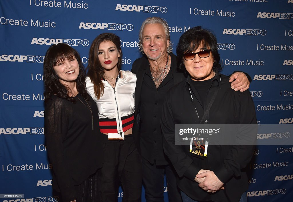 Singer Pat Benatar, Hana Giraldo, musician Neil Giraldo and ASCAP membership EVP John Titta attend the 2016 ASCAP 'I Create Music' EXPO on April 30, 2016 in Los Angeles, California.