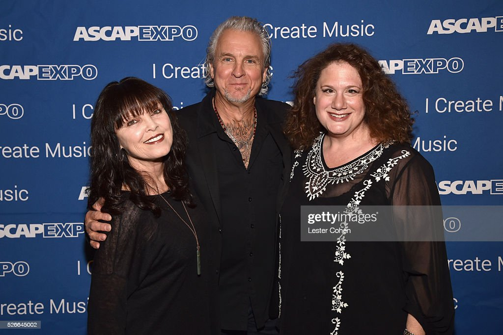 Singer Pat Benatar, musician Neil Geraldo and journalist Melinda Newman attend the 2016 ASCAP 'I Create Music' EXPO on April 30, 2016 in Los Angeles, California.