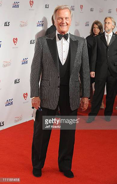 Singer Pat Boone arrives at the 2009 MusiCares Person of the Year Tribute to Neil Diamond at the Los Angeles Convention Center on February 6 2009 in...
