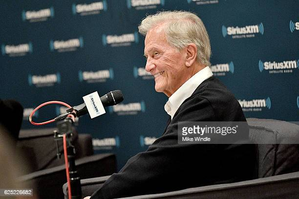 Singer Pat Boone speaks onstage during SiriusXM's Town Hall with Pat Boone at Capitol Records Tower on November 22 2016 in Los Angeles California