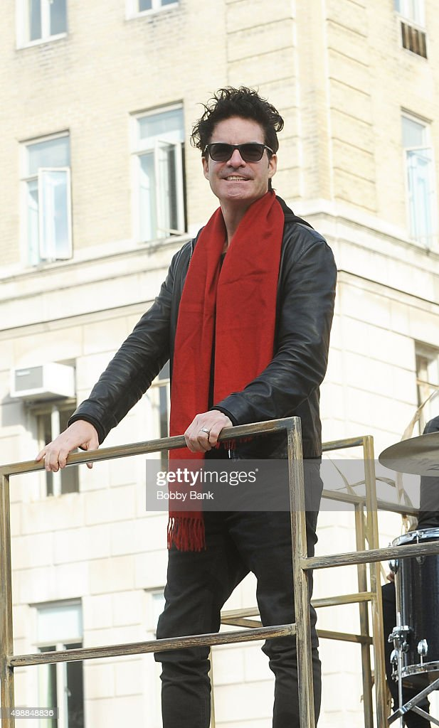 Singer Pat Monahan of Train attends the 89th Annual Macy's Thanksgiving Day Parade on November 26, 2015 in New York City.