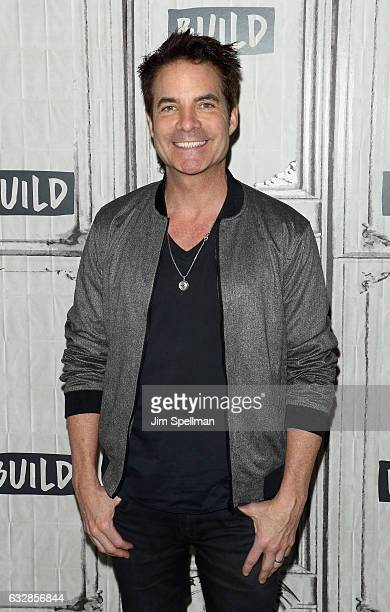 Singer Pat Monahan of Train attends the Build series to discuss 'a girl a bottle a boat' at Build Studio on January 27 2017 in New York City
