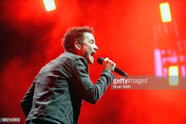 Singer Pat Monahan of Train performs during SiriusXMs 'Final Dress Rehearsal' special exclusively for SiriusXM subscribers at MGM Grand Garden Arena...