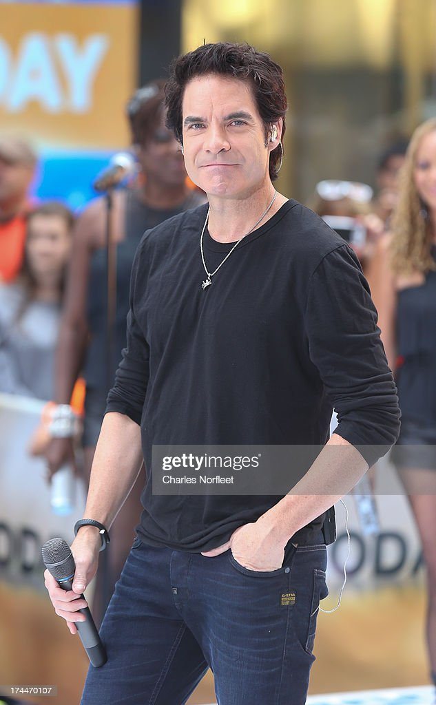 Singer Pat Monahan of Train performs on NBC's 'Today' at Rockefeller Plaza on July 26, 2013 in New York, New York.