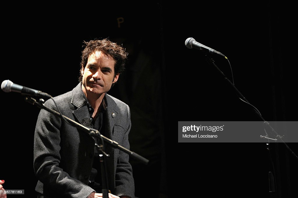 Singer Pat Monahan performs during the All For the Hall New York concert benefiting the Country Music Hall of Fame at Best Buy Theater on February 26, 2013 in New York City.