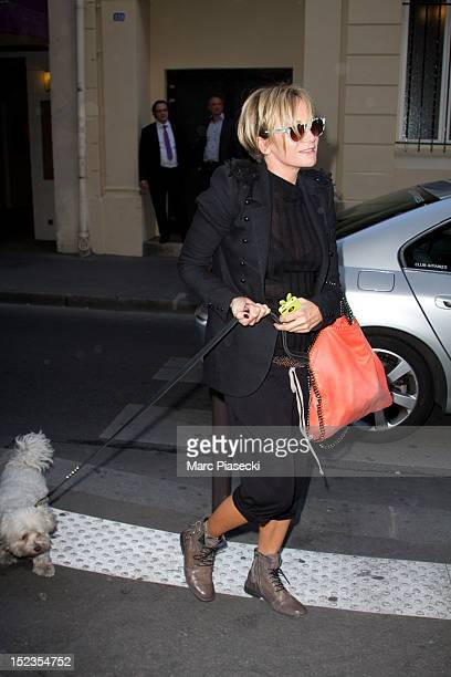 Singer Patricia Kaas arrives at L'Olympia on September 19 2012 in Paris France