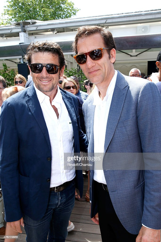 Singer <a gi-track='captionPersonalityLinkClicked' href=/galleries/search?phrase=Patrick+Bruel&family=editorial&specificpeople=549816 ng-click='$event.stopPropagation()'>Patrick Bruel</a> and Actor <a gi-track='captionPersonalityLinkClicked' href=/galleries/search?phrase=Clive+Owen&family=editorial&specificpeople=201515 ng-click='$event.stopPropagation()'>Clive Owen</a> attend the Men Final of 2015 Roland Garros French Tennis Open - Day Fithteen, on June 7, 2015 in Paris, France.