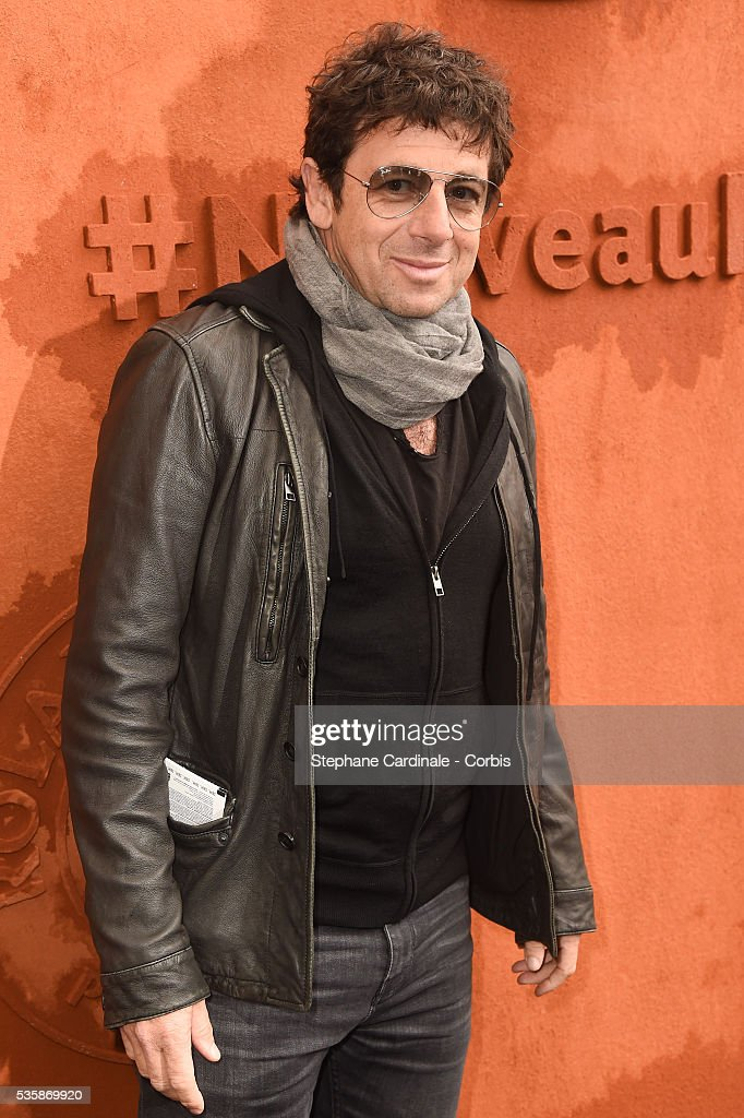 Singer <a gi-track='captionPersonalityLinkClicked' href=/galleries/search?phrase=Patrick+Bruel&family=editorial&specificpeople=549816 ng-click='$event.stopPropagation()'>Patrick Bruel</a> attends day nine of the 2016 French Open at Roland Garros on May 30, 2016 in Paris, France.