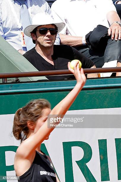 Singer Patrick Bruel attends the 2015 Roland Garros French Tennis Open Day Eleven on June 3 2015 in Paris France