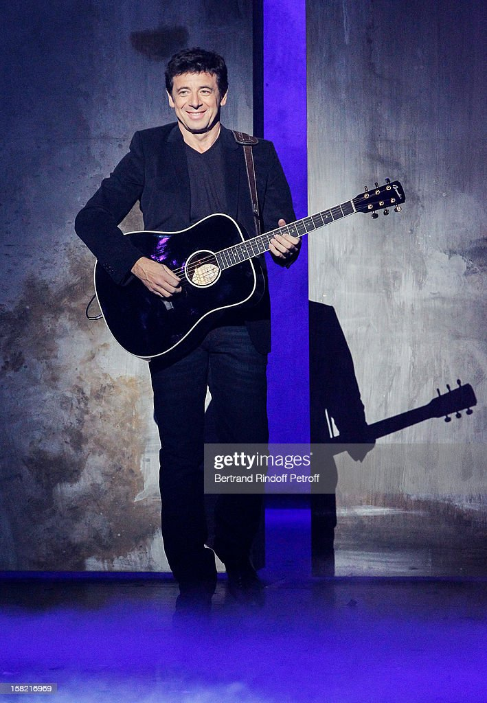 Singer Patrick Bruel performs during 'La Chanson De L'Annee 2012' Show Recording at Palais des Sports on December 10, 2012 in Paris, France.