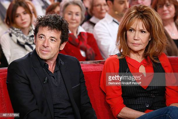 Singer Patrick Bruel presents the 'PasteurWeizmann Association' 40th Anniversary and Actress Clementine Celarie presents the TV Series 'Accuse'...