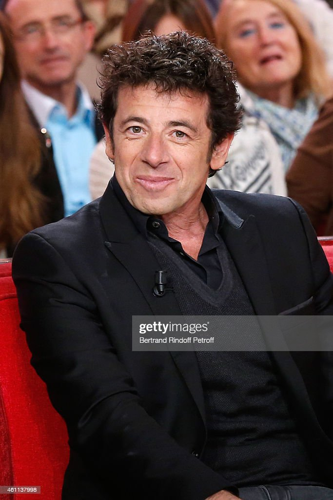 Singer <a gi-track='captionPersonalityLinkClicked' href=/galleries/search?phrase=Patrick+Bruel&family=editorial&specificpeople=549816 ng-click='$event.stopPropagation()'>Patrick Bruel</a> presents the 'Pasteur-Weizmann Association' 40th Anniversary (on January 12, 2015) during the 'Vivement Dimanche' French TV Show at Pavillon Gabriel on January 7, 2015 in Paris, France.