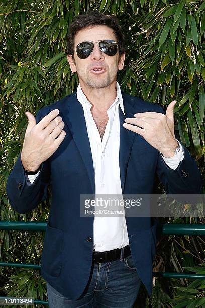 Singer Patrick Bruel sighting at Roland Garros Tennis French Open 2013 Day 13 on June 7 2013 in Paris France