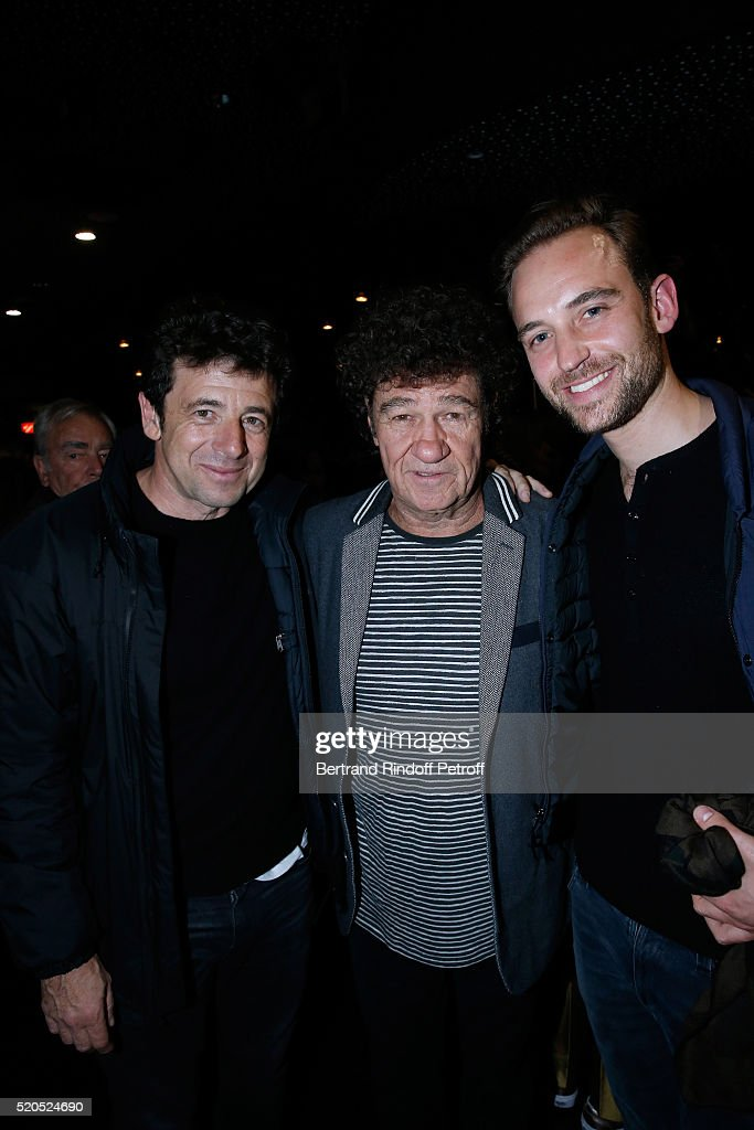 Singer <a gi-track='captionPersonalityLinkClicked' href=/galleries/search?phrase=Patrick+Bruel&family=editorial&specificpeople=549816 ng-click='$event.stopPropagation()'>Patrick Bruel</a>, singer <a gi-track='captionPersonalityLinkClicked' href=/galleries/search?phrase=Robert+Charlebois&family=editorial&specificpeople=588339 ng-click='$event.stopPropagation()'>Robert Charlebois</a> and writer Joel Dicker pose after the <a gi-track='captionPersonalityLinkClicked' href=/galleries/search?phrase=Robert+Charlebois&family=editorial&specificpeople=588339 ng-click='$event.stopPropagation()'>Robert Charlebois</a> : '50 ans, 50 chansons' : Concert at Bobino on April 11, 2016 in Paris, France.