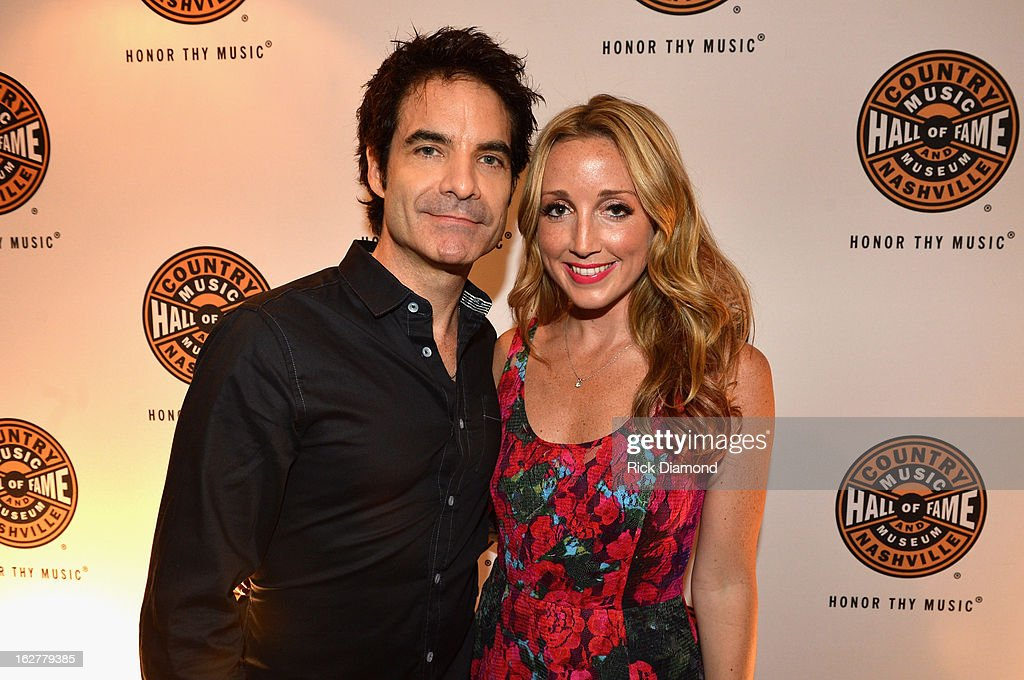 Singer Patrick Monahan and singer Ashley Monroe attend the All For the Hall New York concert benefiting the Country Music Hall of Fame at Best Buy Theater on February 26, 2013 in New York City.