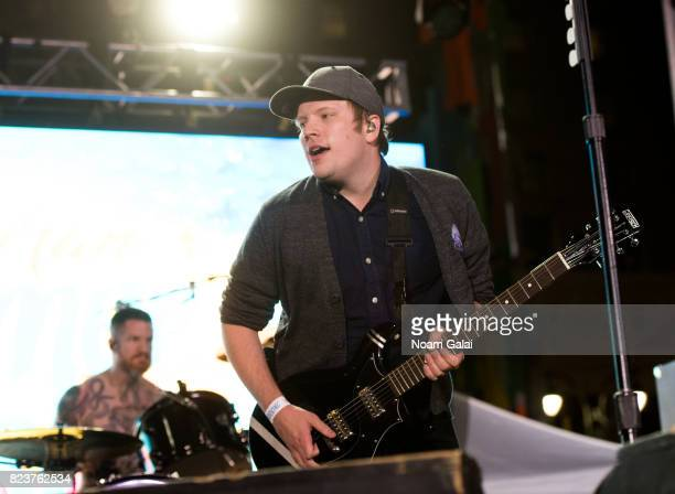 Singer Patrick Stump and Andy Hurley of Fall Out Boy perform at Elvis Duran's 2017 Summer Bash at the Pennsy Plaza on July 27 2017 in New York City