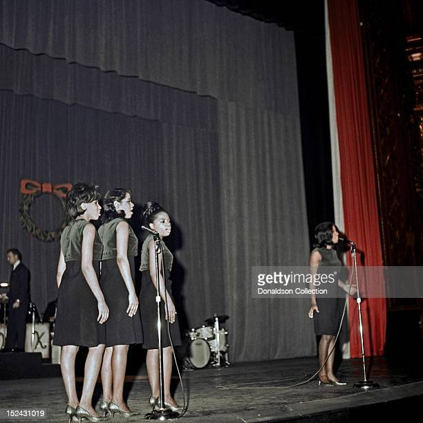 Singer Patti La Belle and The Bluebelles perform at Murray The K's Big Holiday Show at the Brooklyn Fox Theater on December 29 1964 in New York City...