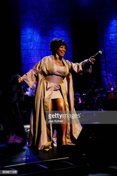 Singer Patti LaBelle performs live at Radio City Music Hall part of the 'Divas With Heart' Benefit Concert at Radio City Music Hall on May 4 2008 in...