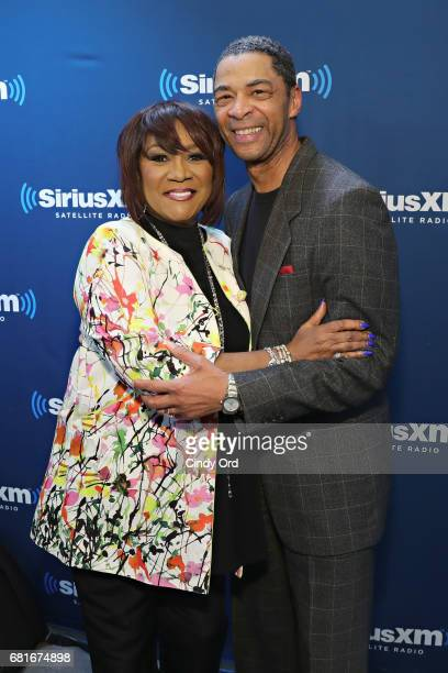 Singer Patti LaBelle poses for a photo with SiriusXM host BK Kirkland during a visit the SiriusXM Studios on May 10 2017 in New York City