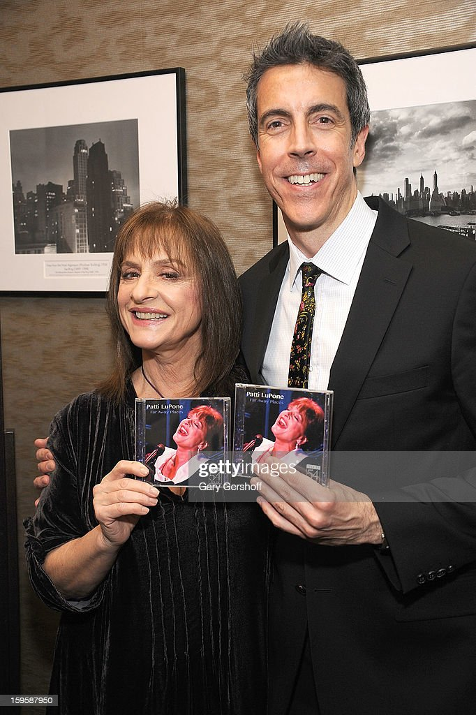 Singer Patti Lupone (L) and pianist Joseph Thalken promote 'Far Away Places: Live at 54 BELOW' at Barnes & Noble, 86th & Lexington on January 16, 2013 in New York City.