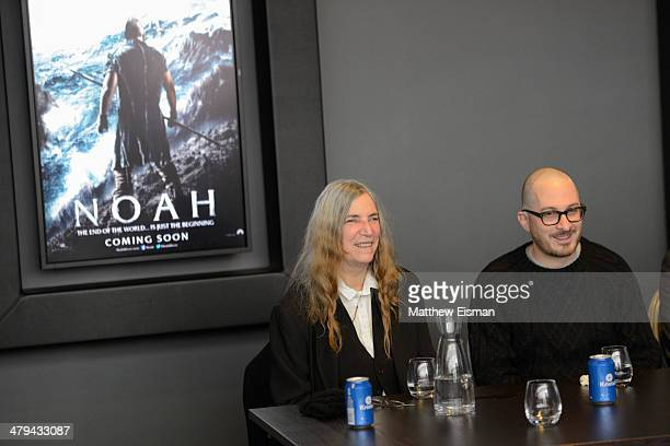 Singer Patti Smith and Director Darren Aronofsky attend the special screening of 'Noah' at Sam Cinema on March 18 2014 in Reykjavik Iceland