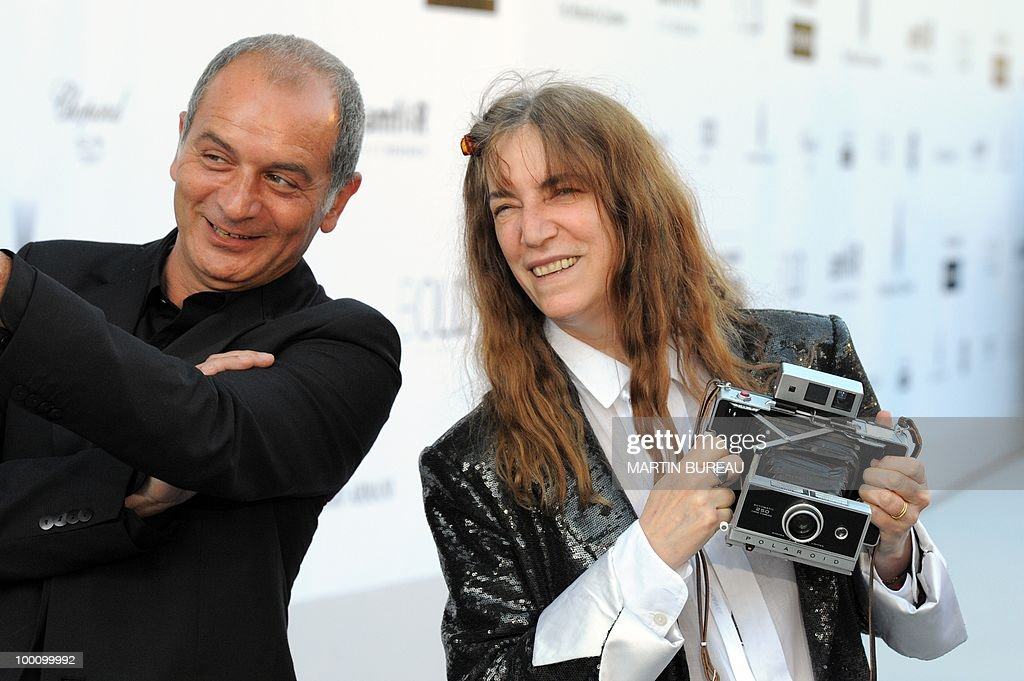 US singer Patti Smith arrives at amfAR's Cinema Against Aids 2010 benefit gala on May 20, 2010 in Antibes, southeastern France.