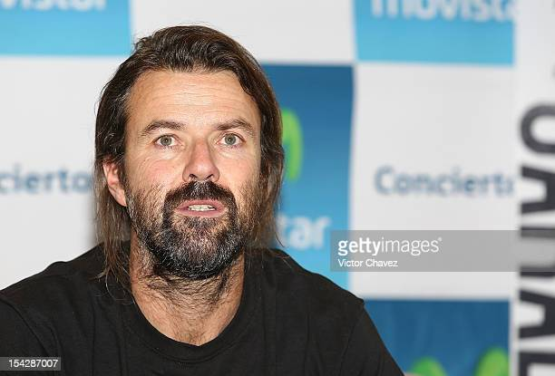 Singer Pau Dones of Jarabe de Palo attends a press conference to promote his concert at Centro Cultural Roberto Cantoral on October 16 2012 in Mexico...