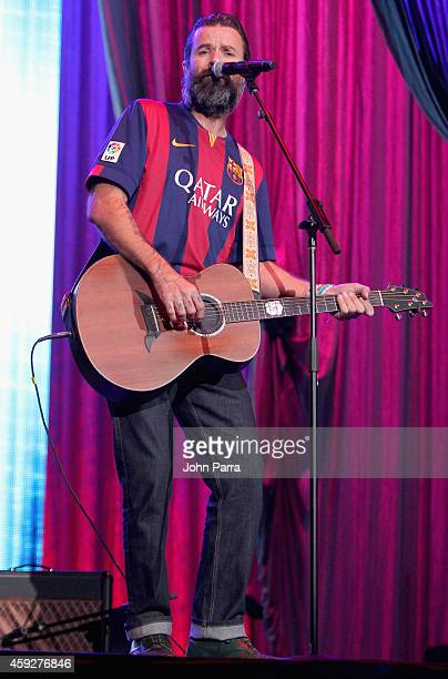 Singer Pau Dones of Jarabe de Palo onstage during the 2014 Person of the Year honoring Joan Manuel Serrat at the Mandalay Bay Events Center on...