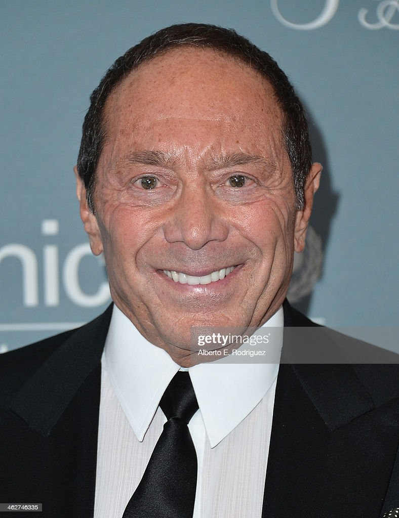 Singer <a gi-track='captionPersonalityLinkClicked' href=/galleries/search?phrase=Paul+Anka&family=editorial&specificpeople=216628 ng-click='$event.stopPropagation()'>Paul Anka</a> arrives to the 2014 UNICEF Ball Presented by Baccarat at the Regent Beverly Wilshire Hotel on January 14, 2014 in Beverly Hills, California.