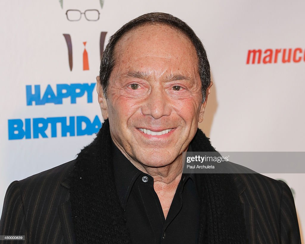 Singer <a gi-track='captionPersonalityLinkClicked' href=/galleries/search?phrase=Paul+Anka&family=editorial&specificpeople=216628 ng-click='$event.stopPropagation()'>Paul Anka</a> attends a surprise party for Larry King's 80th Birthday at Dodger Stadium on November 15, 2013 in Los Angeles, California.