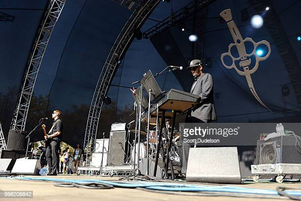 Singer Paul Banks of Interpol and RZA of Wu Tang Clan perform onstage with their side project Banks Steelz during the FYF Festival at Los Angeles...