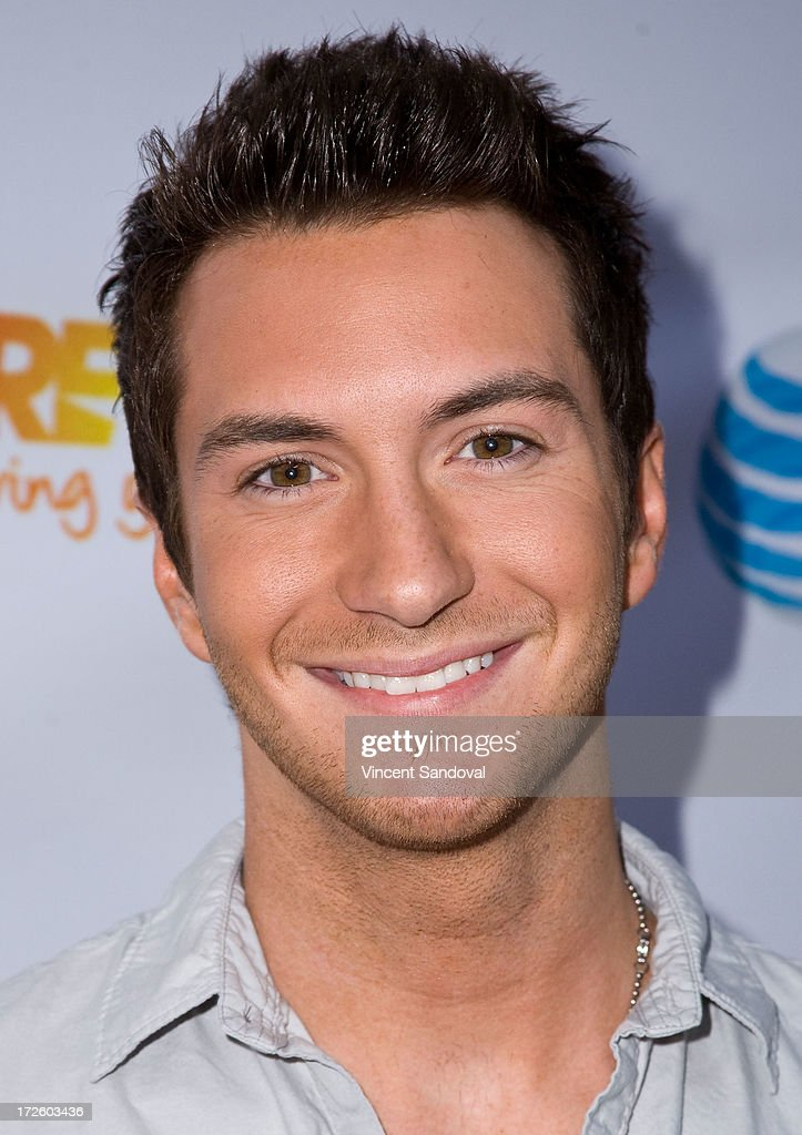 Singer Paul Jolley attends the Adam Lambert performance and check donation presentation to The Trevor Project for 'Live Proud' Campaign at Playhouse Hollywood on July 3, 2013 in Los Angeles, California.