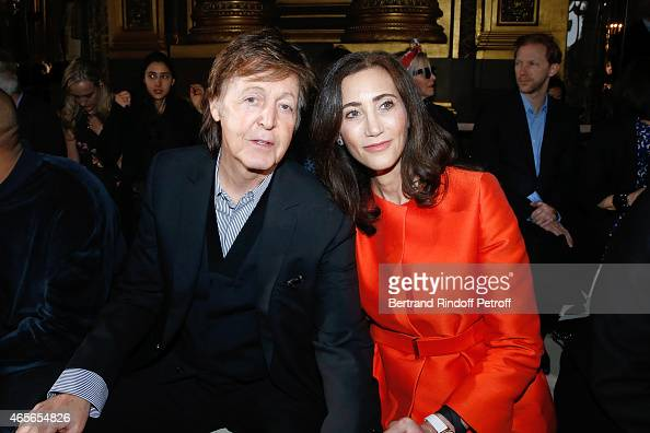 Singer Paul McCartney and his wife Nancy Shevell attend the Stella McCartney show as part of the Paris Fashion Week Womenswear Fall/Winter 2015/2016...