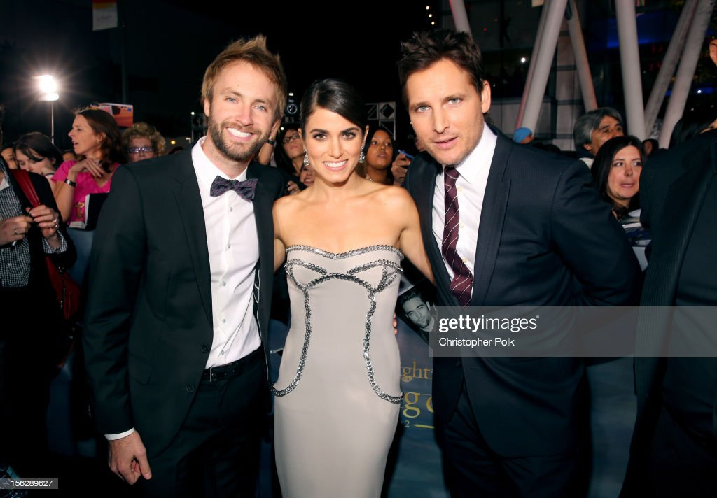 Singer Paul McDonald, actors <a gi-track='captionPersonalityLinkClicked' href=/galleries/search?phrase=Nikki+Reed&family=editorial&specificpeople=220844 ng-click='$event.stopPropagation()'>Nikki Reed</a>, and <a gi-track='captionPersonalityLinkClicked' href=/galleries/search?phrase=Peter+Facinelli&family=editorial&specificpeople=233464 ng-click='$event.stopPropagation()'>Peter Facinelli</a> arrive at the premiere of Summit Entertainment's 'The Twilight Saga: Breaking Dawn - Part 2' at Nokia Theatre L.A. Live on November 12, 2012 in Los Angeles, California.