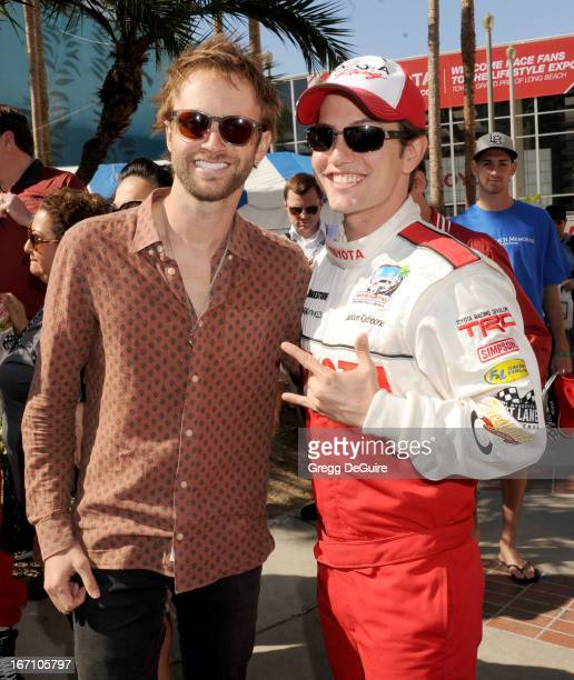 Singer Paul McDonald and actor Jackson Rathbone attend the 37th Annual Toyota Pro/Celebrity Race on April 20 2013 in Long Beach California