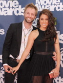 Singer Paul McDonald and actress Nikki Reed arrive at the 2011 MTV Movie Awards at Universal Studios' Gibson Amphitheatre on June 5 2011 in Universal...