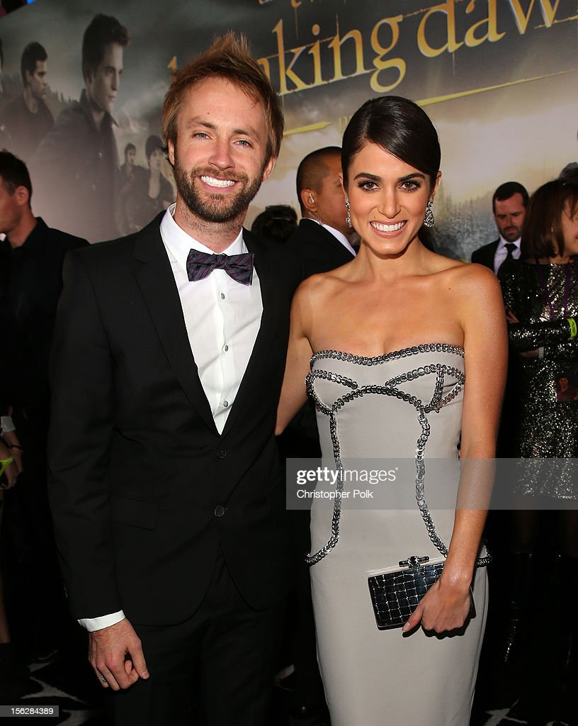 Singer Paul McDonald (L) and actress Nikki Reed arrive at the premiere of Summit Entertainment's 'The Twilight Saga: Breaking Dawn - Part 2' at Nokia Theatre L.A. Live on November 12, 2012 in Los Angeles, California.