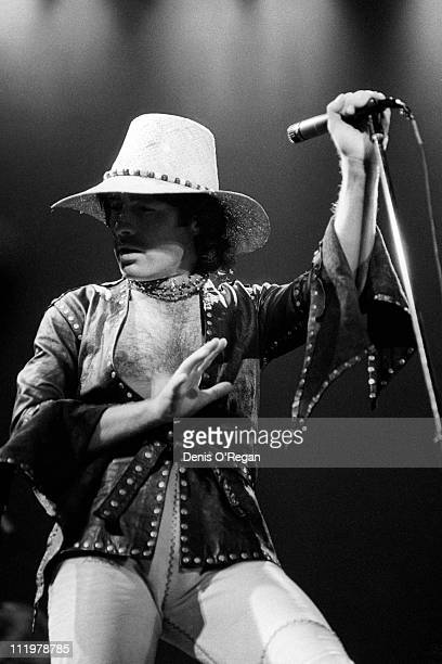Singer Paul Rodgers of Bad Company performs at Earls Court Arena London 1978