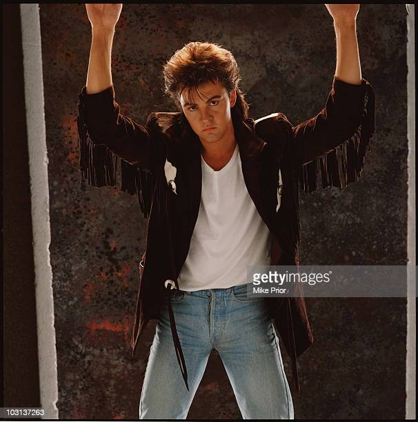 singer Paul Young posed in London in 1986